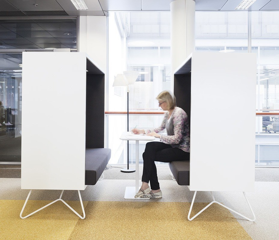 Acoustic study: INTO furniture reduce office noise pollution - Sanoma