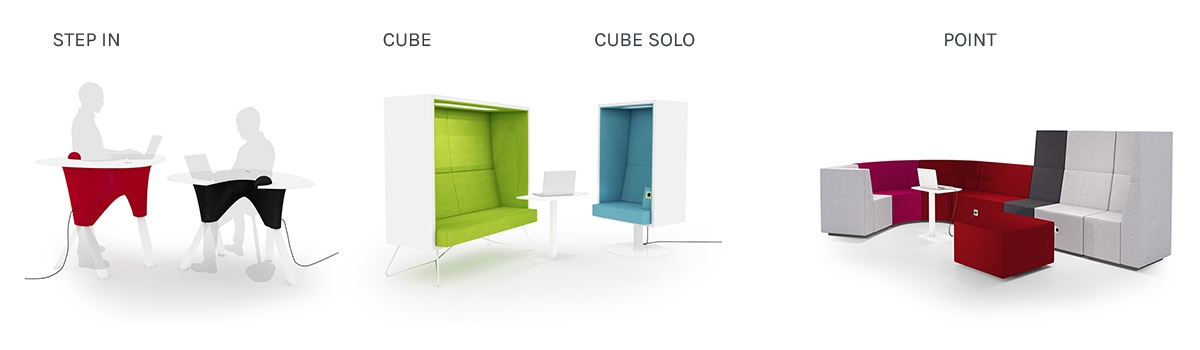 Activity-based office: best products for open interaction zone - INTO the Nordic Silence