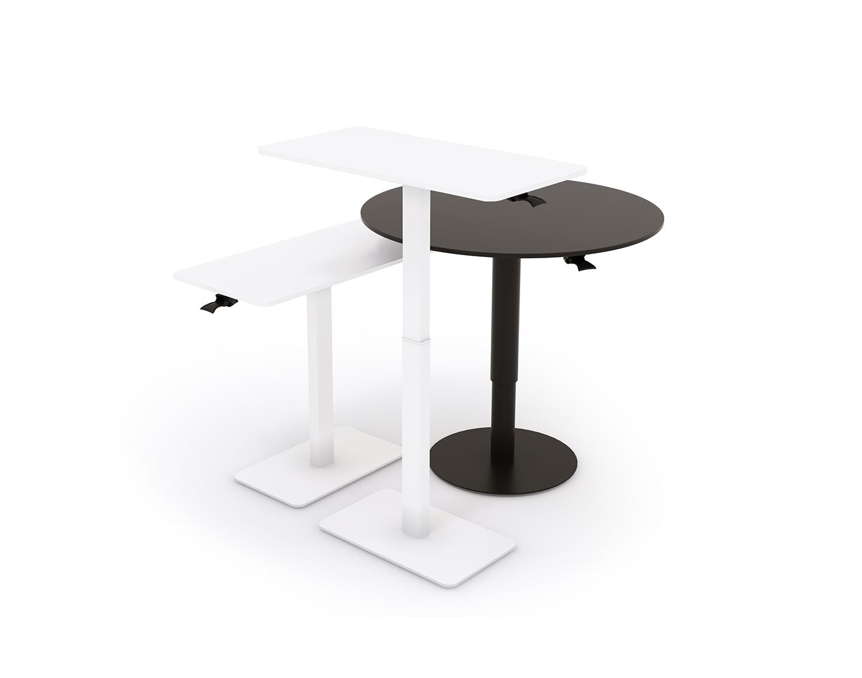 Pieni etätyöpöytä 80 x 60 cm, säätöjaloin