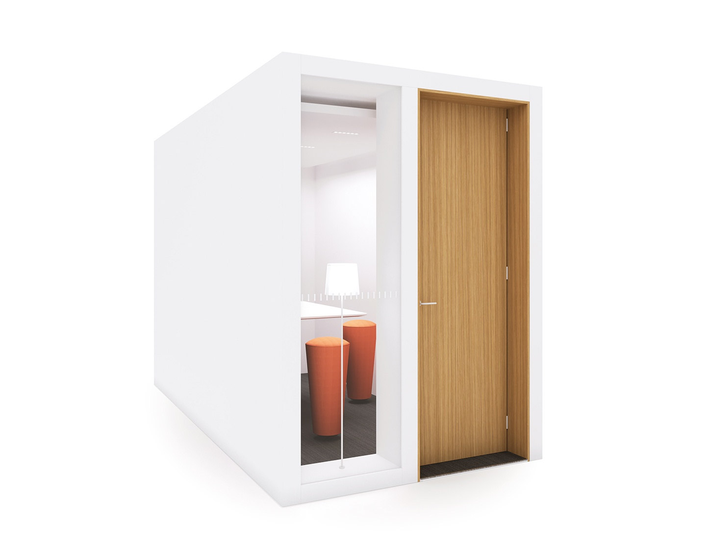 The soundproof office pod for small meetings